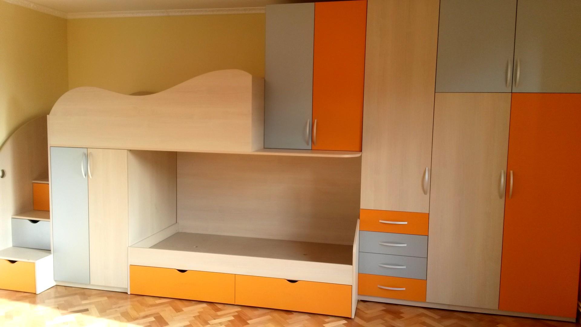 mobila tineret portocaliu