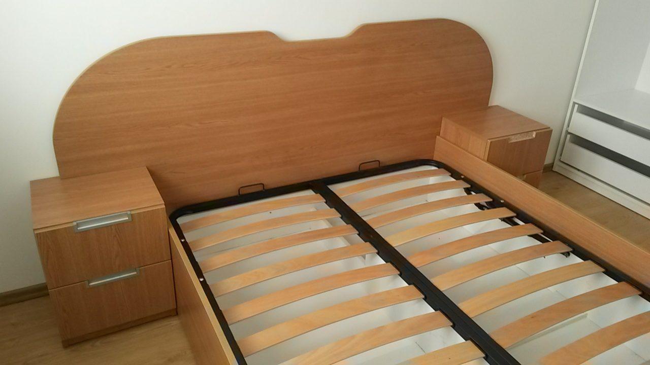 pat pentru 2 persoane din lemn